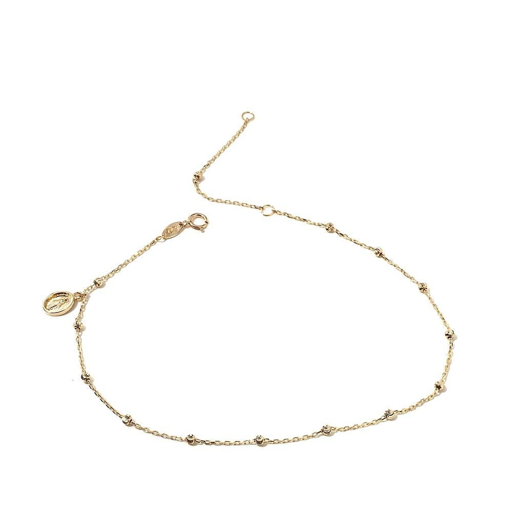 Michael anthony jewelry k yellow gold anklet with virgin mary