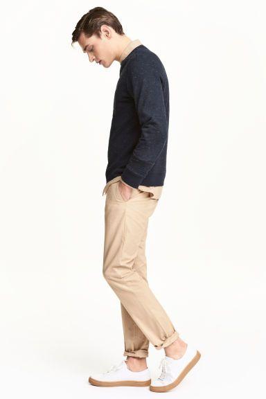 Chinos Slim fit - Light beige - Men | H&M GB