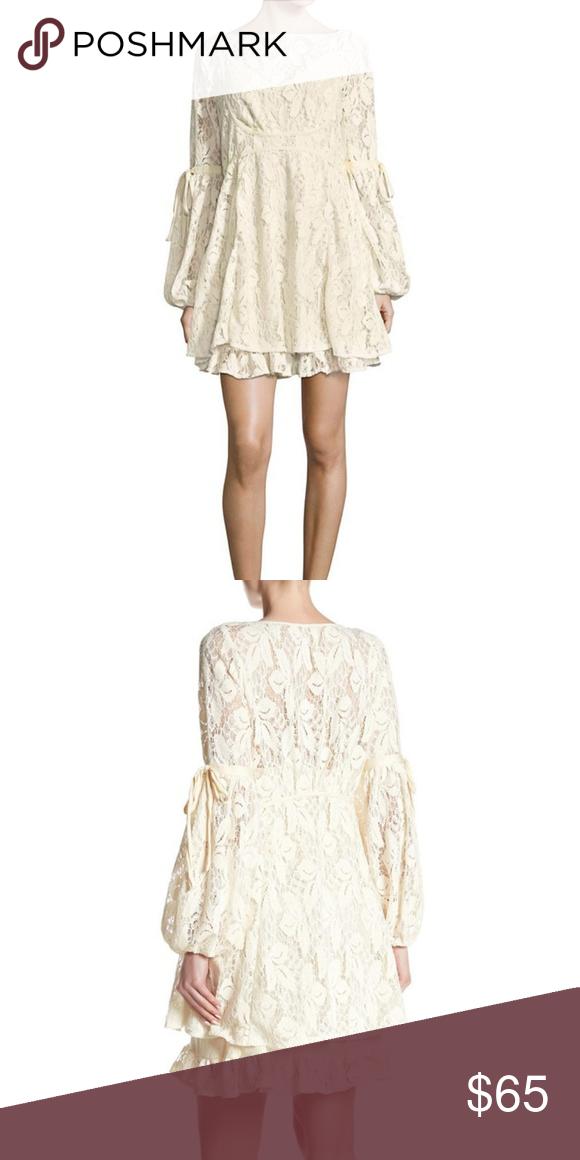 19a2859a59d27 Free People Ruby Lace Mini Dress Free People Ruby Crochet Lace Mini Dress -  perfect for