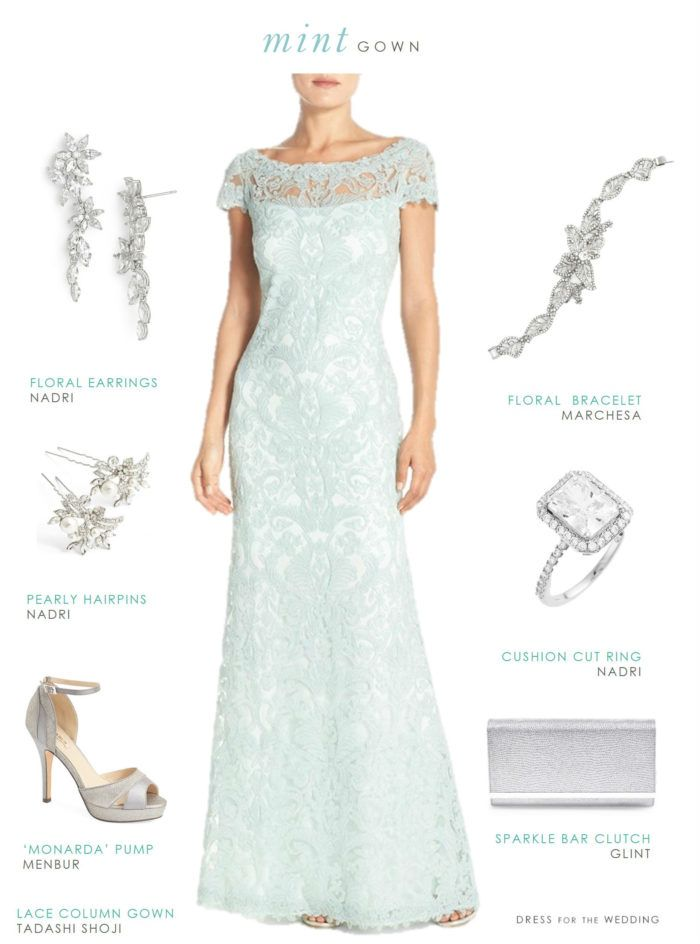 Mint Green Mother of the Bride Dresses in Fall