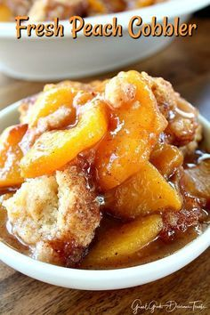 Fresh Peach Cobbler is a scrumptious Southern peach cobbler dessert with fresh juicy peaches and topped with a delicious cobbler topping. #peachcobblercheesecake