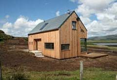 Timber house skinidin isle of skye pictures