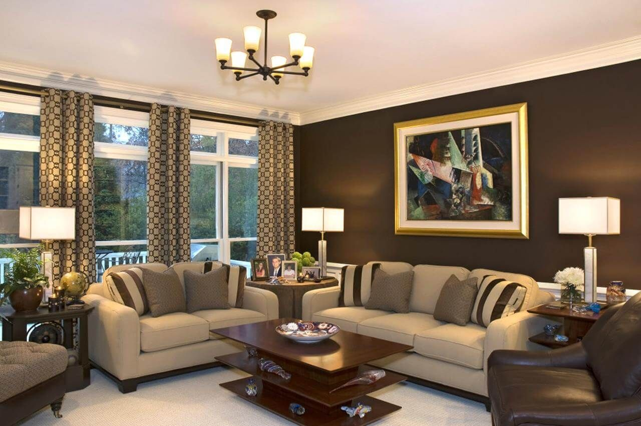 Some Of The Trendiest Living Room Decor Ideas Brown Walls Living Room Brown Living Room Brown Living Room Decor Brown walls living room ideas