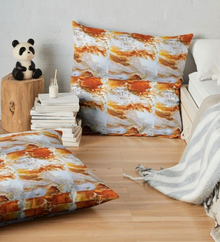 Caramel comfy floor pillows | My Redbubble | Pinterest | Floor pillows