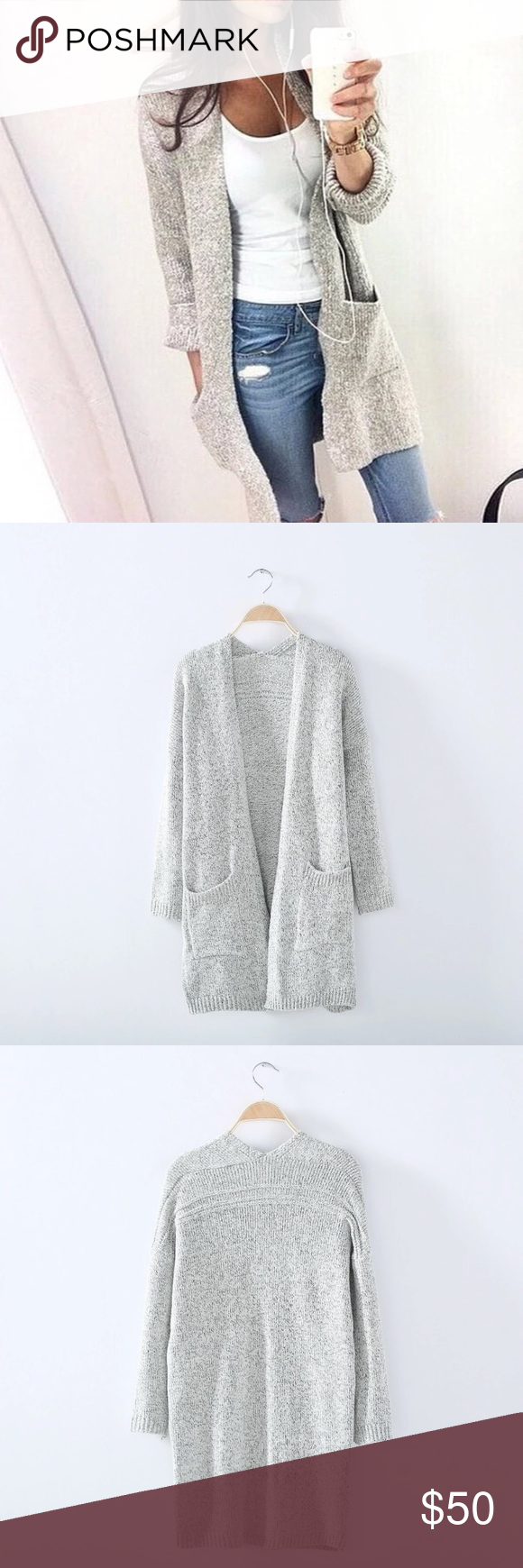 SALE TODAY ONLYChunky Marled Knit Cardigan | 120 lbs, Cable knit ...