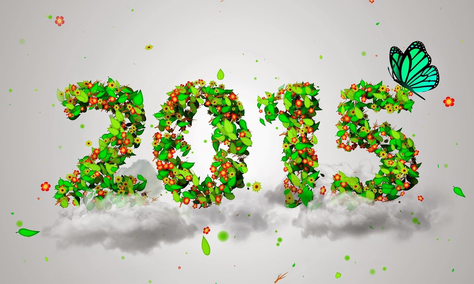 2015 New Year Crafts With The Green Leaves Happy New Year 2015