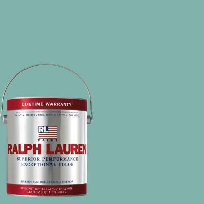 Ralph Lauren 1-gal. Barnstable Blue Flat Interior Paint-RL1749F at The Home Depot