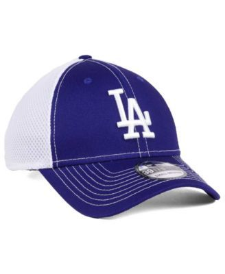New Era Los Angeles Dodgers Team Front Neo 39THIRTY Cap - Blue M L ... 9d7a3aab8a59