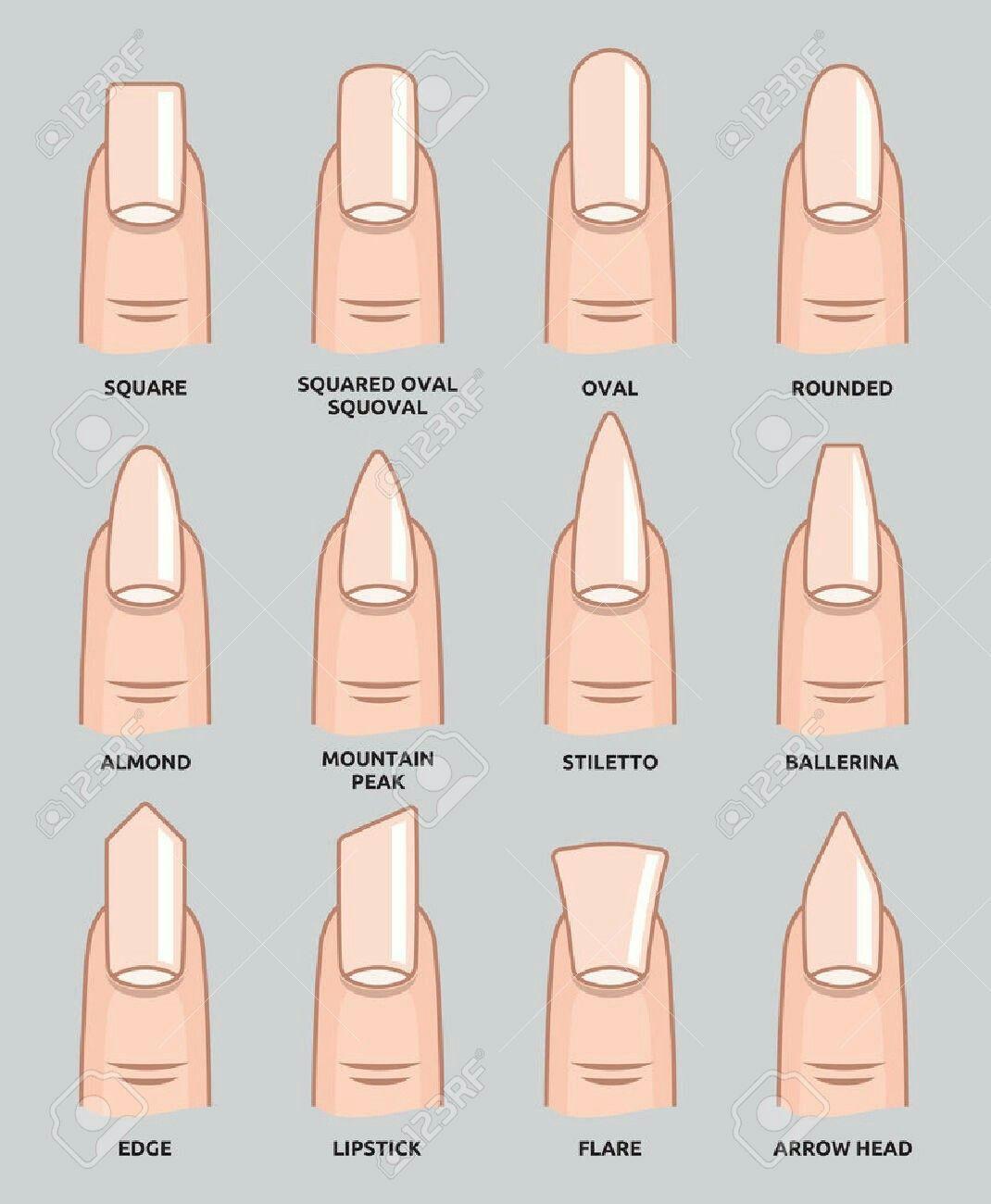 Nailshapes | Nail Style | Pinterest | Girls, Acrylics and Makeup