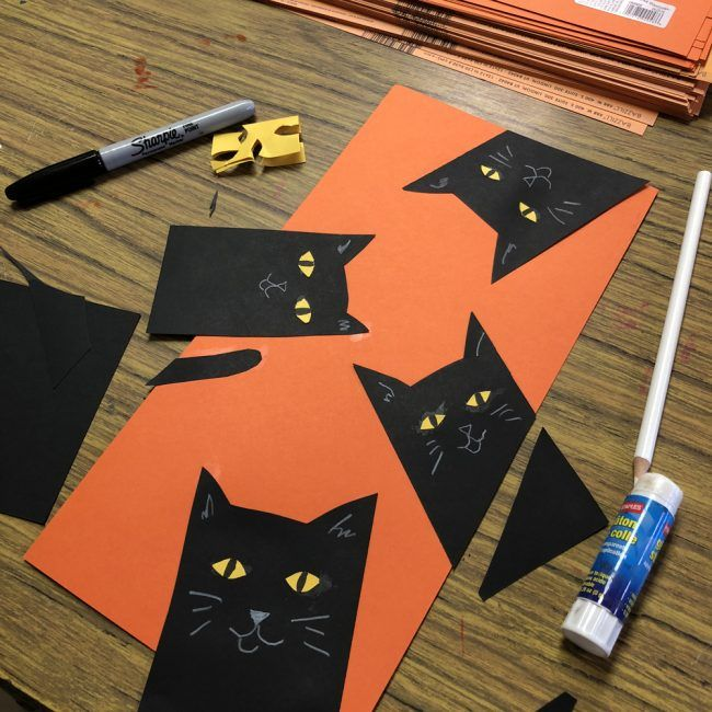 Peek A Boo Cat Collage · Art Projects for Kids