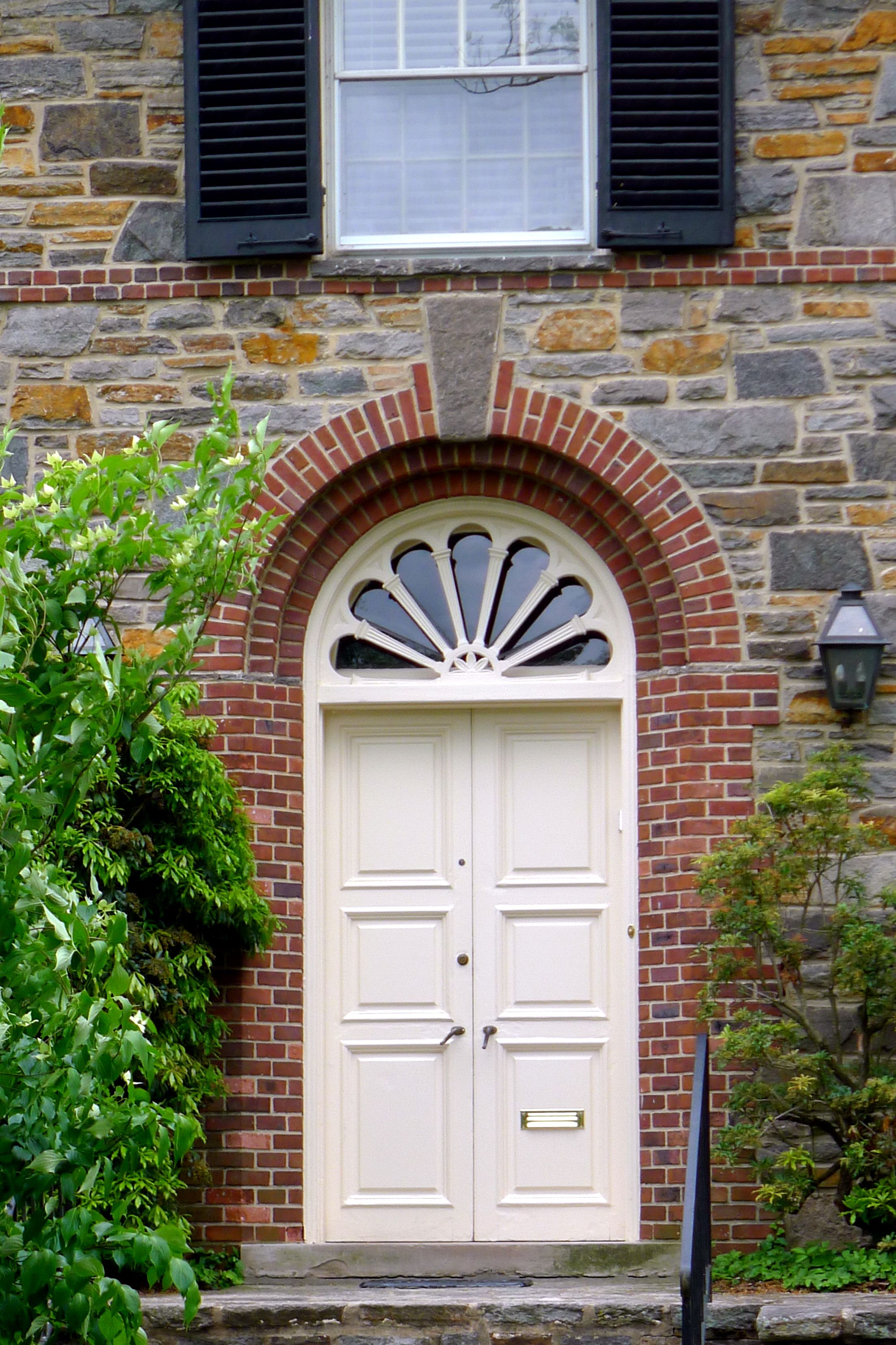 Baltimore MD 1920s home with double door wood entrance fancy brick border window & Baltimore MD 1920s home with double door wood entrance fancy ... Pezcame.Com