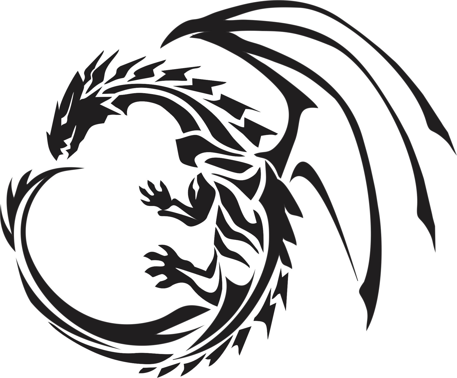 Dragon Circle Tattoo Design Photo 2 Tribal Dragon Tattoos Dragon Silhouette Dragon Tattoo