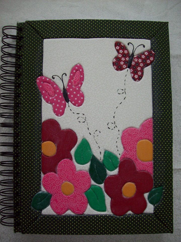 Patchwork em caderno