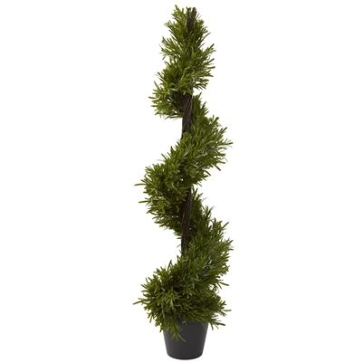 """39"""" Rosemary Spiral Tree (In-door/Out-door).  Twisting and climbing towards the heavens, this Rosemary Spiral will delight even the hardest to please person, and makes the prefect decoration for any home or office. With more than 540 (faux) leaves and standing a tall 39"""", this Rosemary is sure to delight for years and years. #rosemary #spiral #artificialplant"""