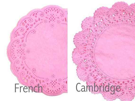 Vintage Style Lace Paper Doilies Walnut Stained Various