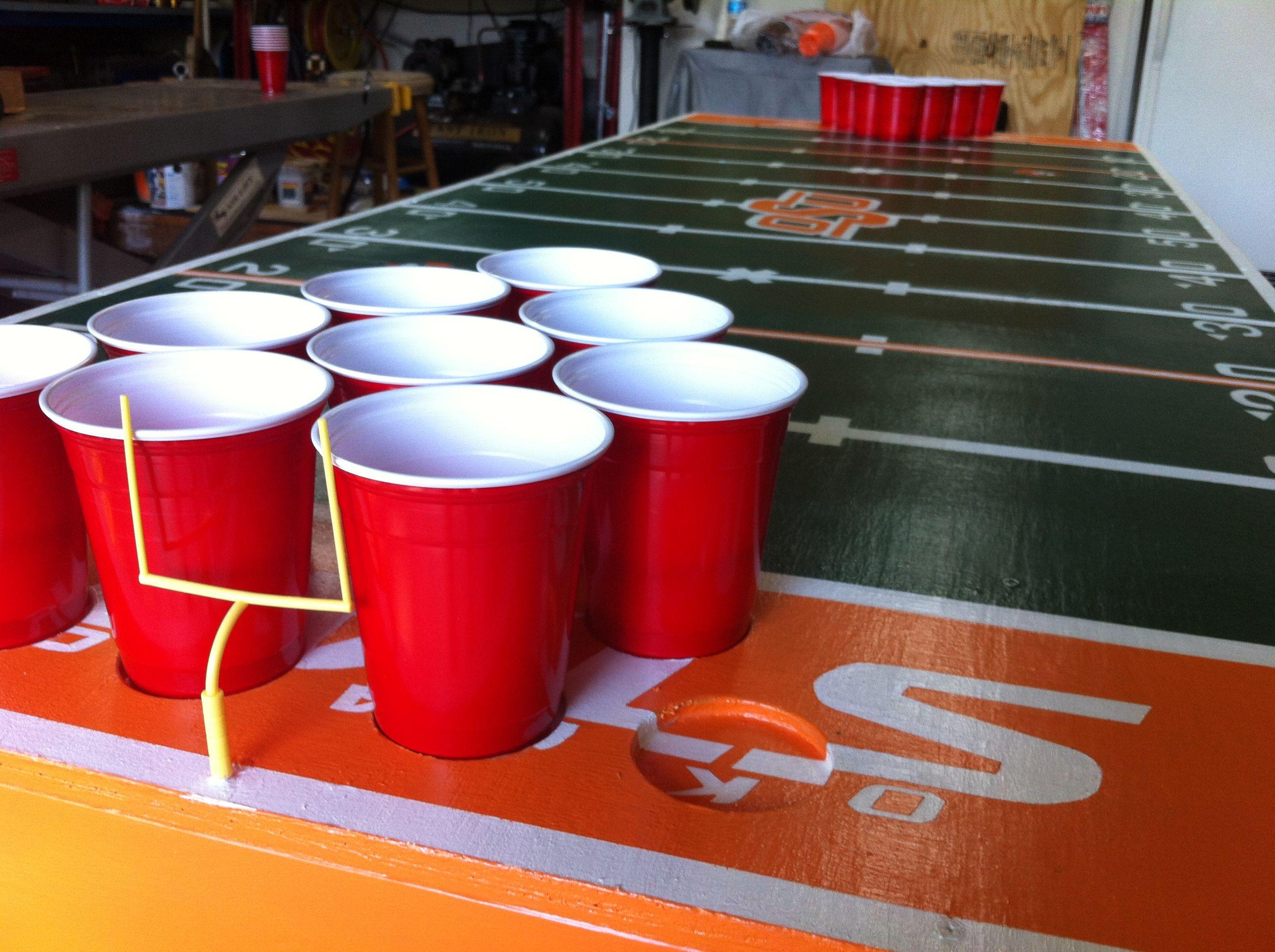 Custom OSU Beer Pong Table Beer Pong Pinterest Beer Pong - Custom vinyl decals for beer pong tables