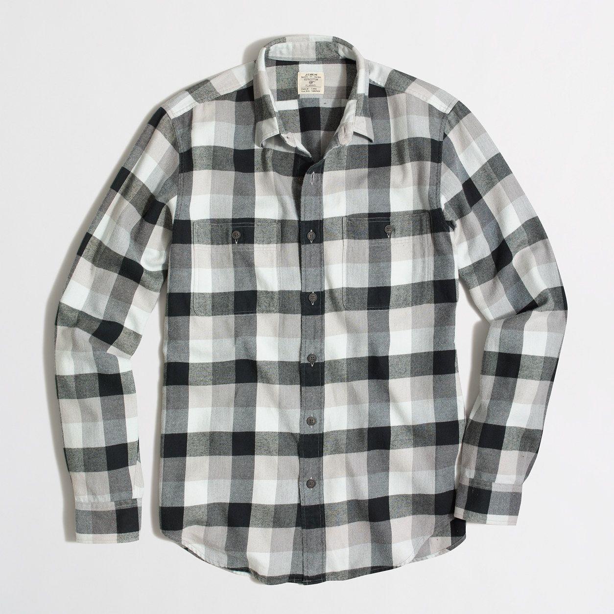 Zara flannel shirt mens  Factory flannel workshirt in plaid  Flannel  JCrew Factory  Work
