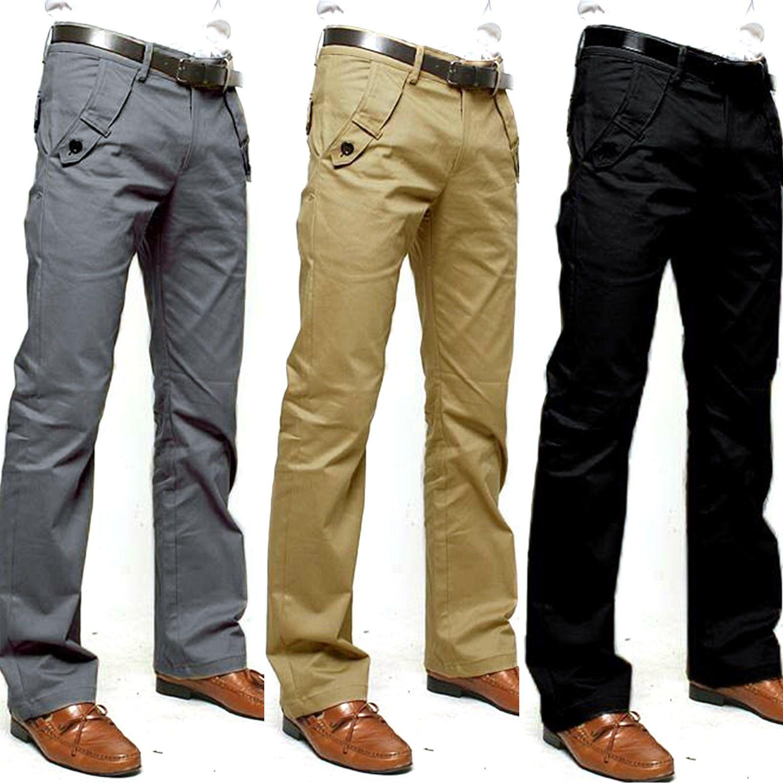 Leisure Pocket Work Trousers. Formal Dress Pants Men Casual Slim Fit  Straight Leg. Item Size Waist Hips Thigh Leg Length. Item Color  Black 0b1d030847d8