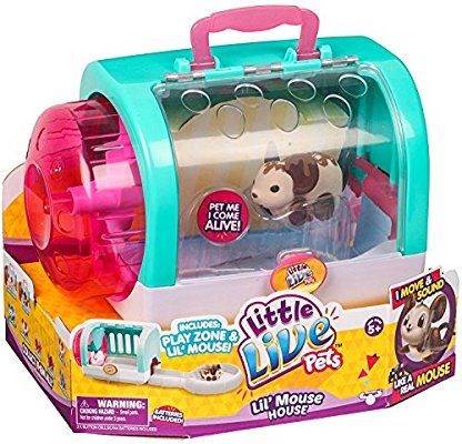 Little Live Pets Lil Mouse House Toy With Choc Bop Brown Mouse Little Live Pets Cool Toys For Girls Toys