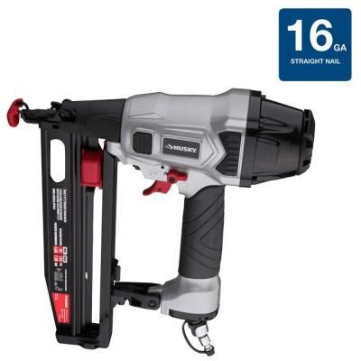 Husky Pneumatic 16 Gauge 2 1 2 In Straight Finish Nailer Dpfn64