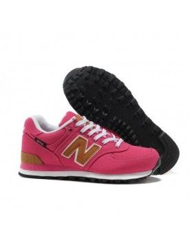 the best attitude df0dc 89013 NEW BALANCE 574 FEMME PINK MARRON CHAUSSURES CHAUSSURES