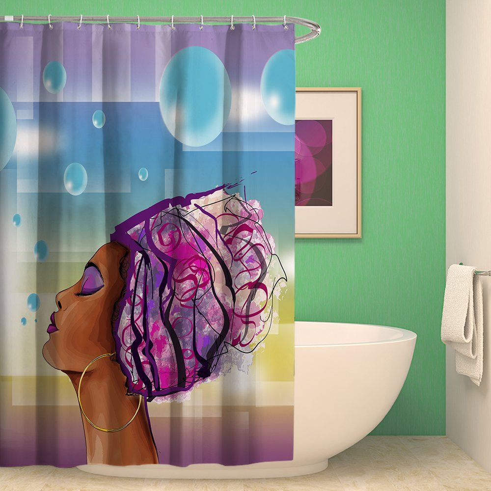 15 99 African American Woman Abstract Image Afrocentric Shower