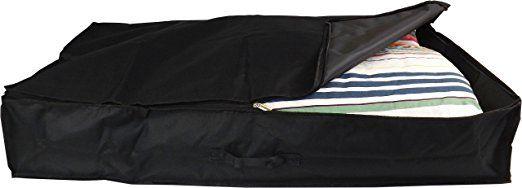 Beige, Pack of 3, 2x80L + 1x130L Neusu Double Bed Underbed Storage Bag Pack