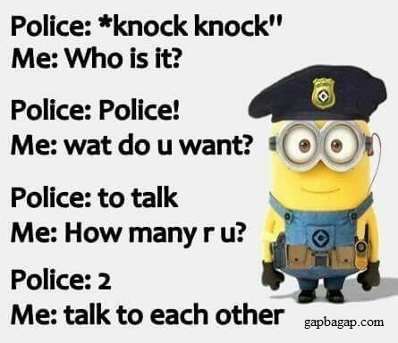 Funny Minions vs Police Officers | laugh out loud ...