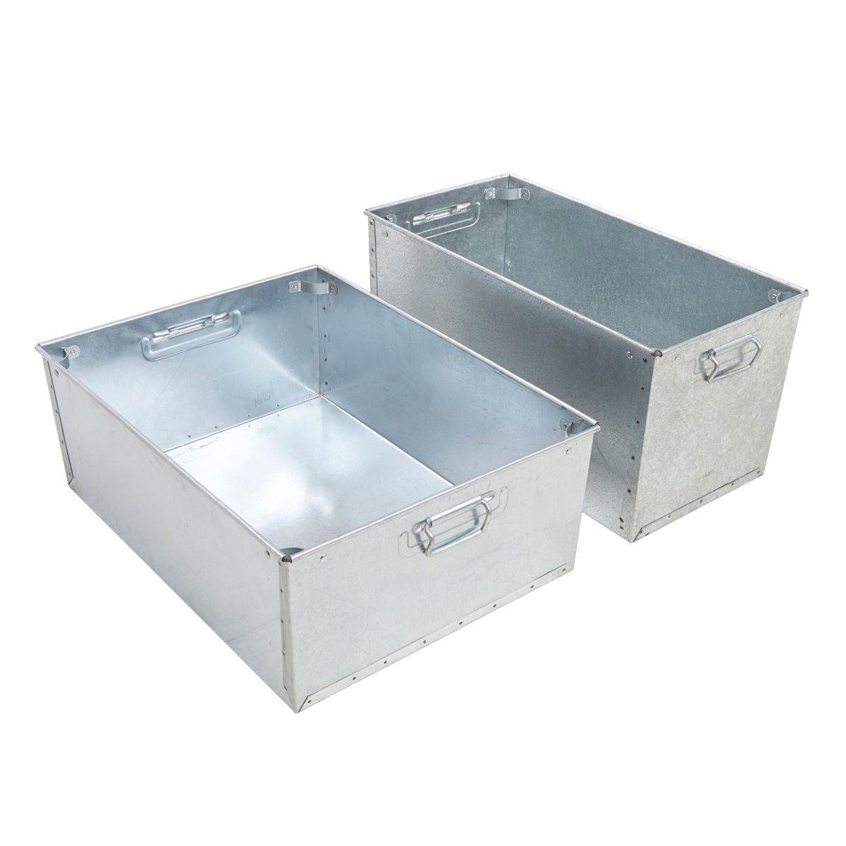 Buy Galvanised Steel Stacking Work Pans Small From BiGDUG. Free Next Day  Delivery On Orders Over Lowest Price Promise. Experts In Storage Solutions.