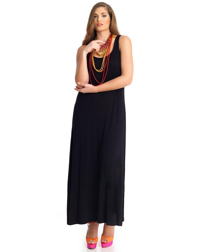 683c55cad06f Maxi αμάνικο βαμβακερό φόρεμα — mat. XXL sizes