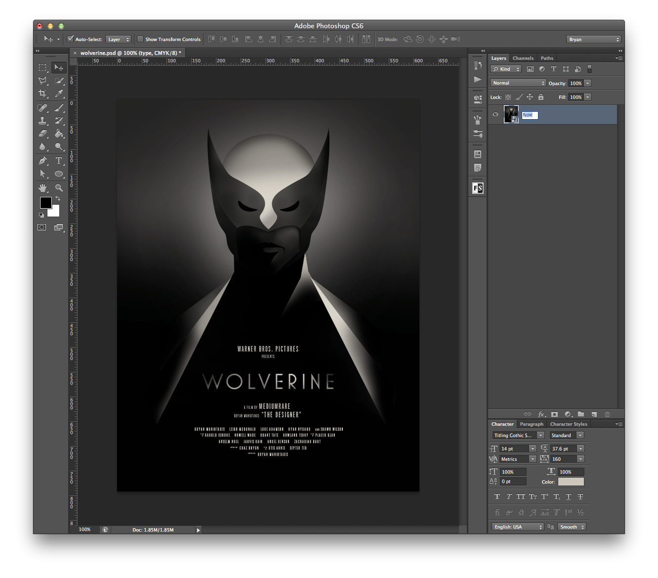 3d poster design tutorial - Olly Moss Movie Poster Style Tutorial In Photoshop