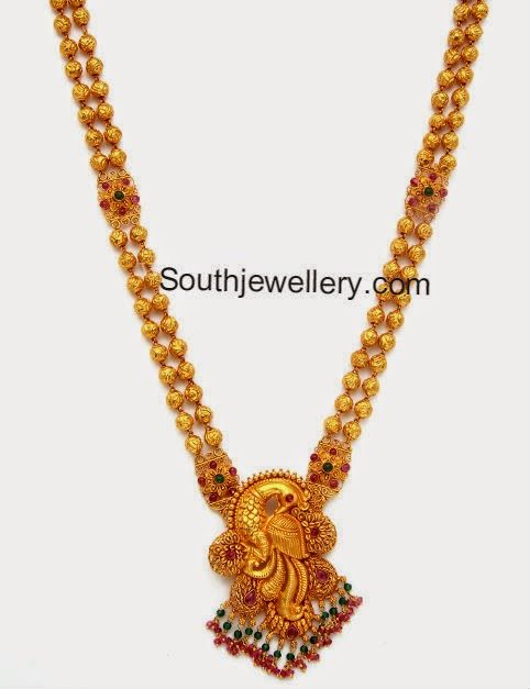 Gold Haram Cum Vaddanam Gold Weight 38 Grams Necklace