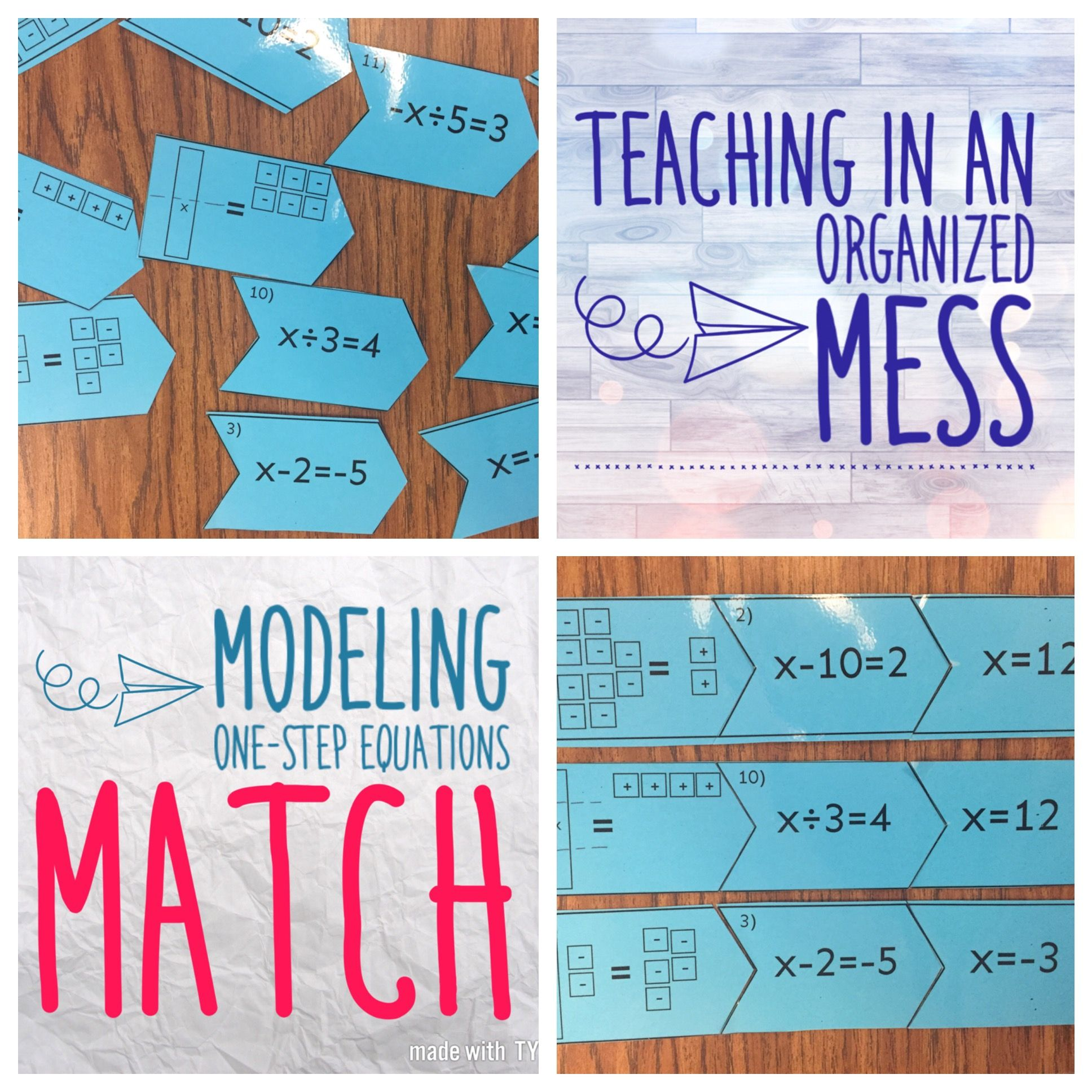 medium resolution of Modeling One Step Equations Matching   One step equations