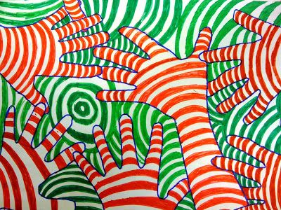 Op Art Hands Using Complementary Colors I Need Another Color Lesson