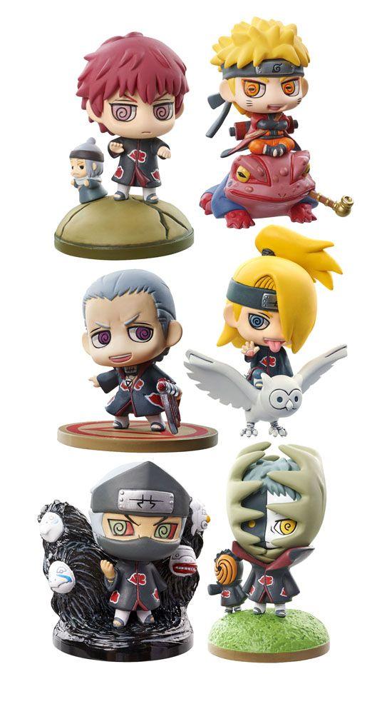 Naruto Shippuden Petit Chara Land assortiment trading figures 6 cm Naruto and Akatsuki Part 1 Megahouse