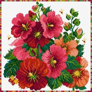 Buy needlework charts, cross stitch charts - Flowers by Lesley Teare