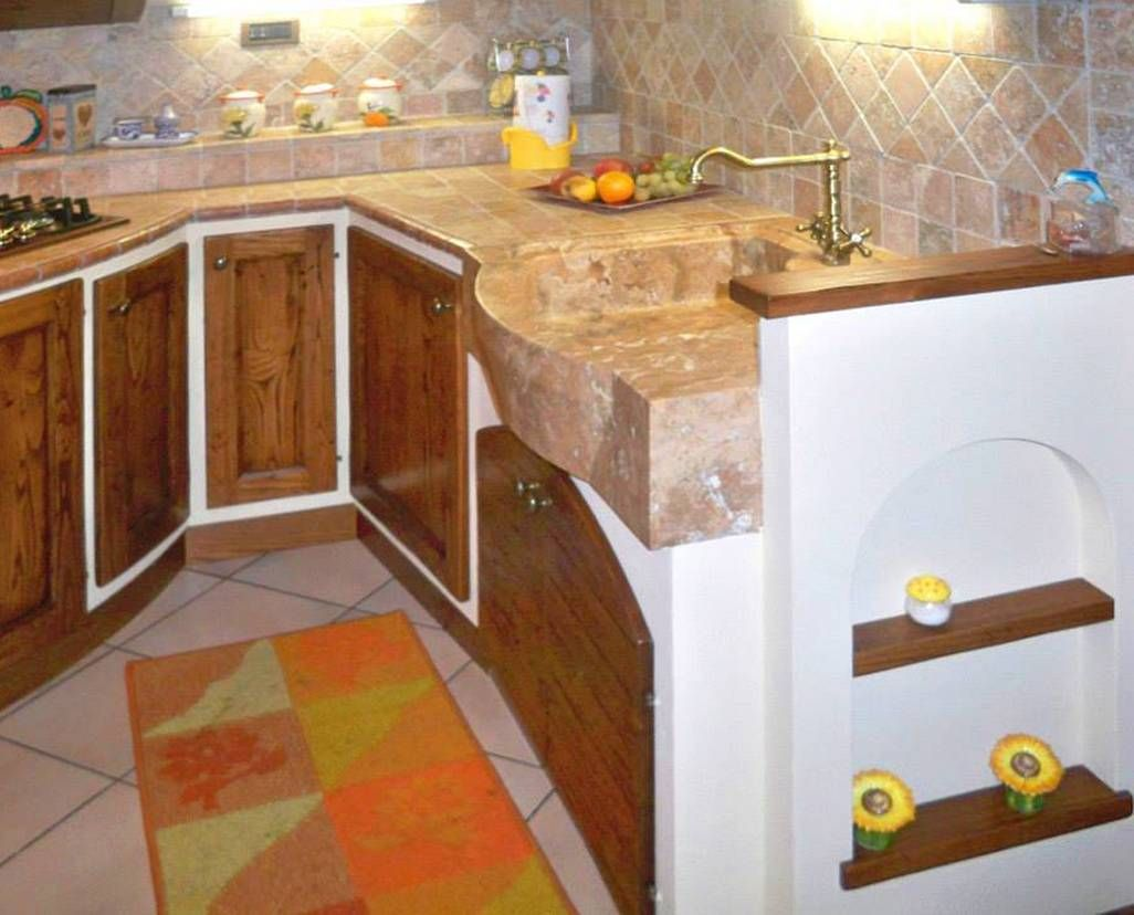 Cucine in muratura per piccoli spazi | Idee per la cucina | Pinterest