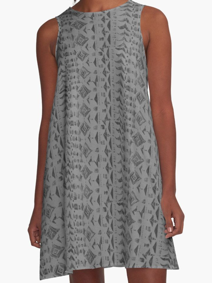 A personal favorite from my Etsy shop https://www.etsy.com/listing/464293750/geoemtric-print-grey-dress-grey-womens