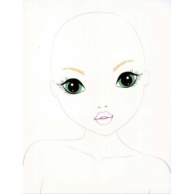 top model makeup studio bonecas de pano rosto de boneca