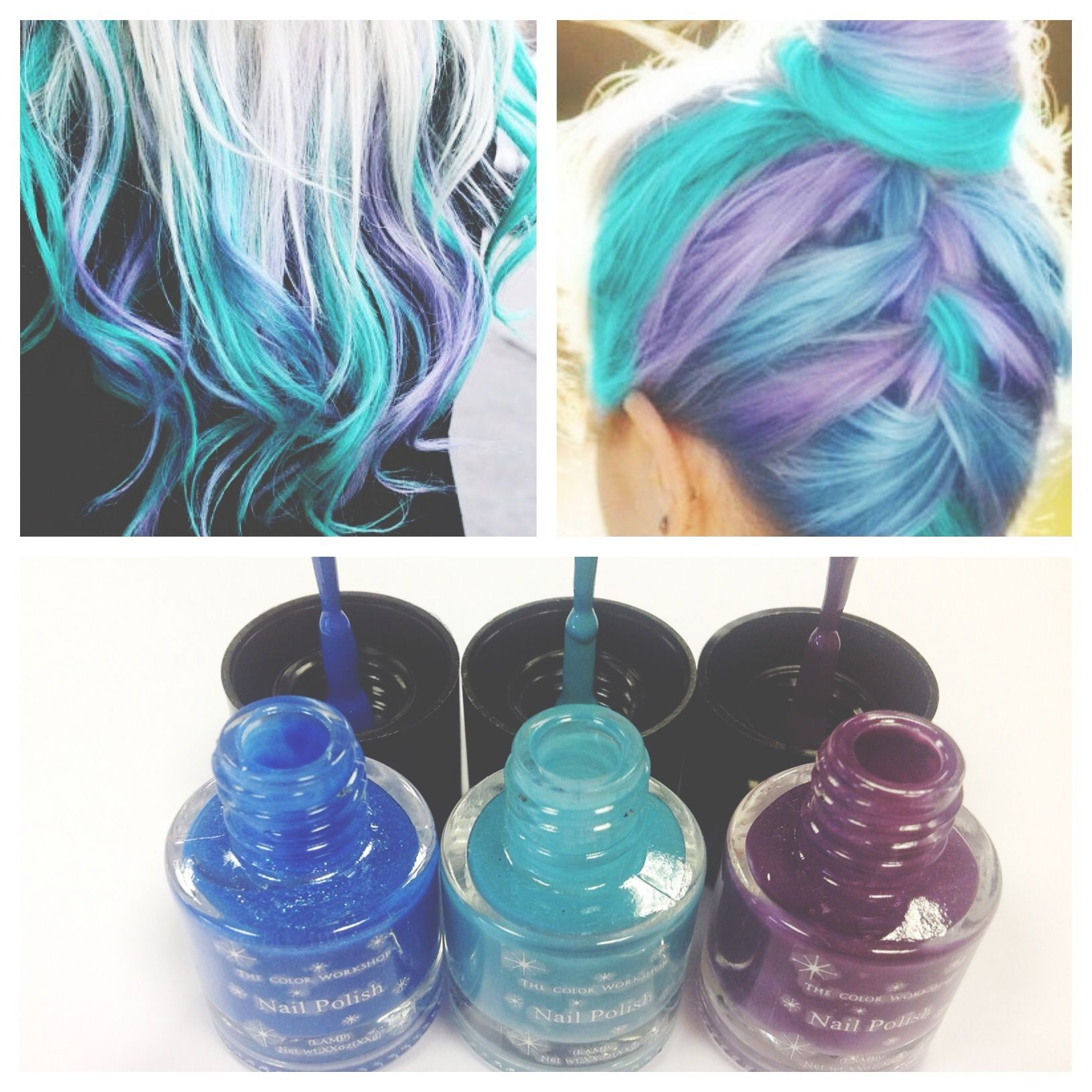 We love this \'mermaid\' hair trend! #nails #ombre #makeup #colour ...