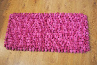 Uk Dreamweavers Pink Chamois Pebble Rug At Contemporary Heaven