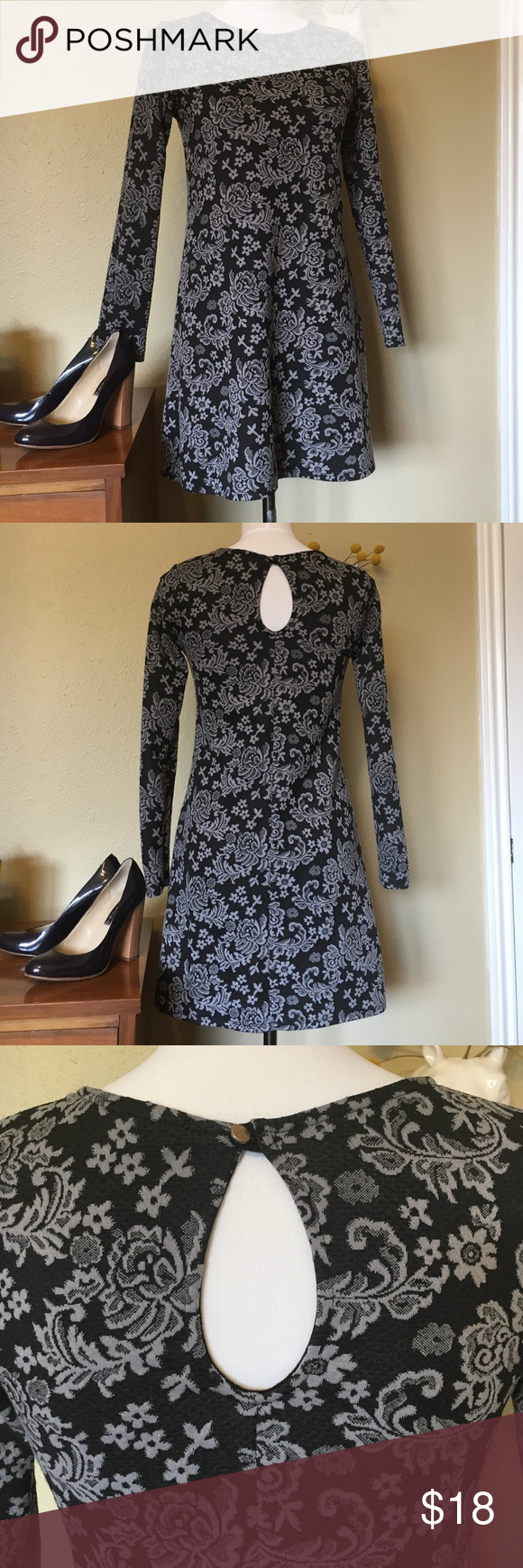 Short long sleeved mod dress with floral pattern I love this dress! It's actually great in the winter with some stockings and tall boots! A little on the short side  Offers welcome! one clothing Dresses Mini