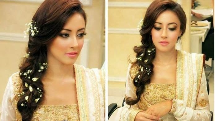 Mehndi Hairstyles Review : Walima mehndi hairstyle wedding
