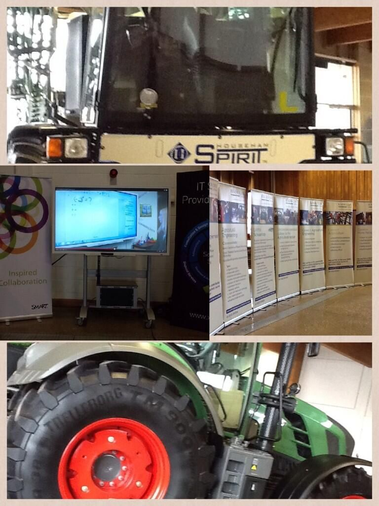 #EdTech meets agriculture at Riseholme College showcase day.  #SMARTE70 vs tractor and combine. @SteljesEdn pic.twitter.com/lvrMUJW8Ay