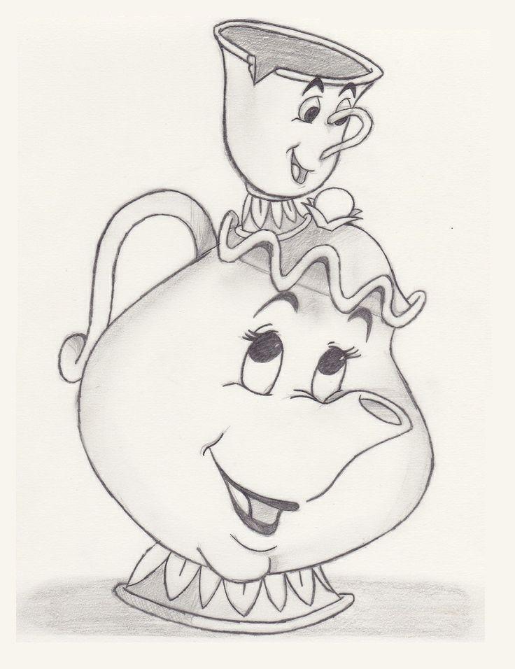 Mrs Potts Chip Beauty The Beast Sketch Goruntuler Ile