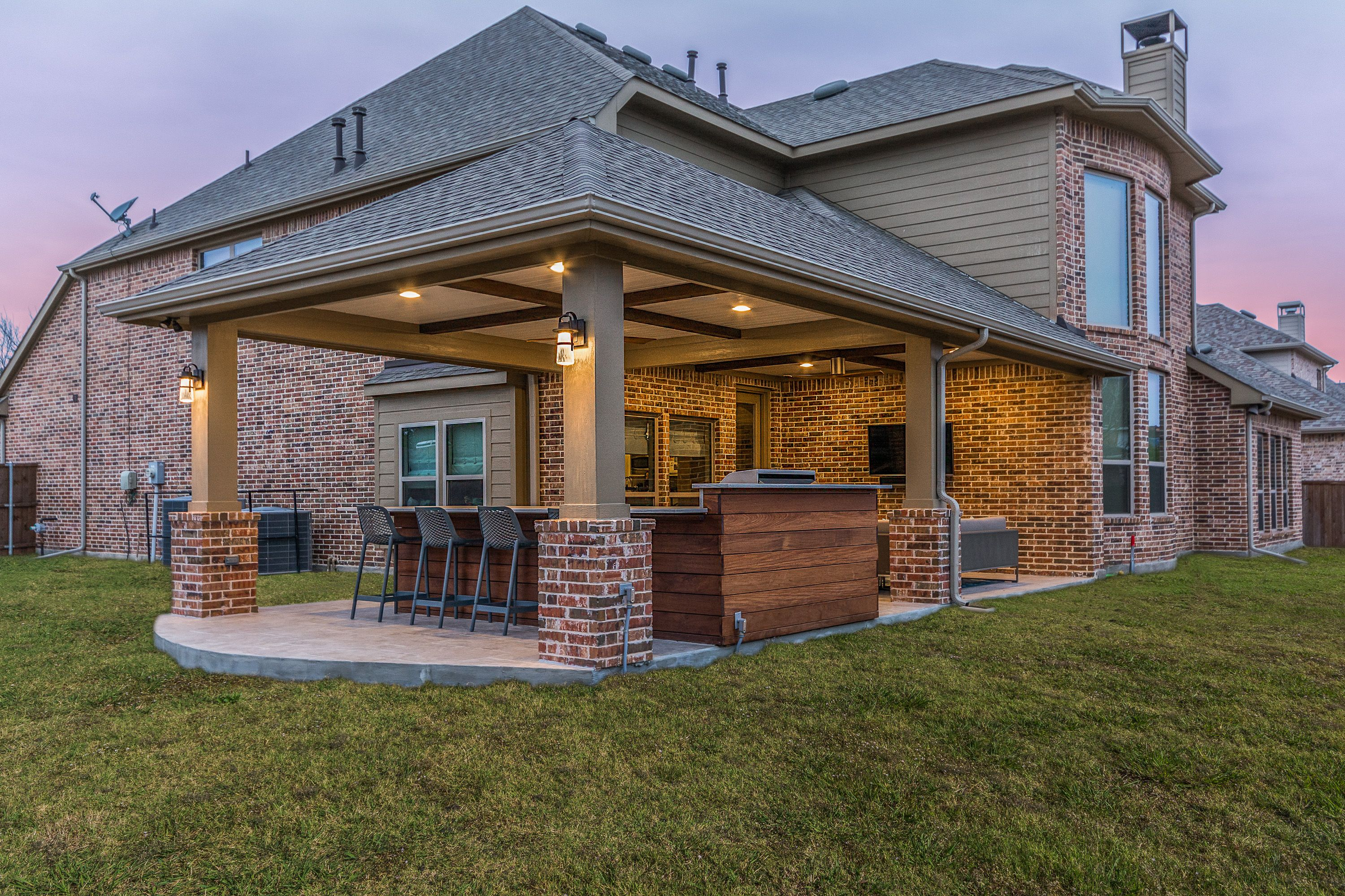 This Homeowner Wanted To Extend Their Small Patio Cover That Was Built With The Home And Add An Outdoor Kit Covered Patio Design Backyard Pavilion Patio Design