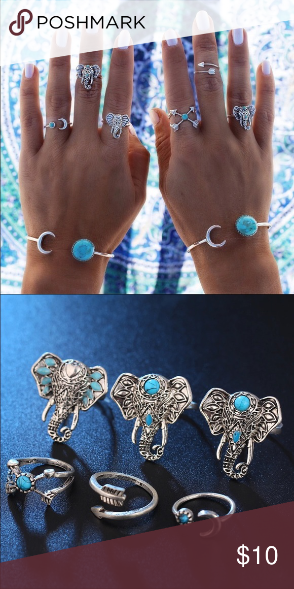 Boho elephant midi rings adjustable ♡ Same/next day shipping  ♡ Bundle & save  ♡ No holds/No trades/No low ballers ♡ I ship through USPS & provide tracking! ♡ All my items are in a smoke free home ♡ Happy shopping, God bless. ♡not_brand_listed Urban Outfitters Jewelry Rings
