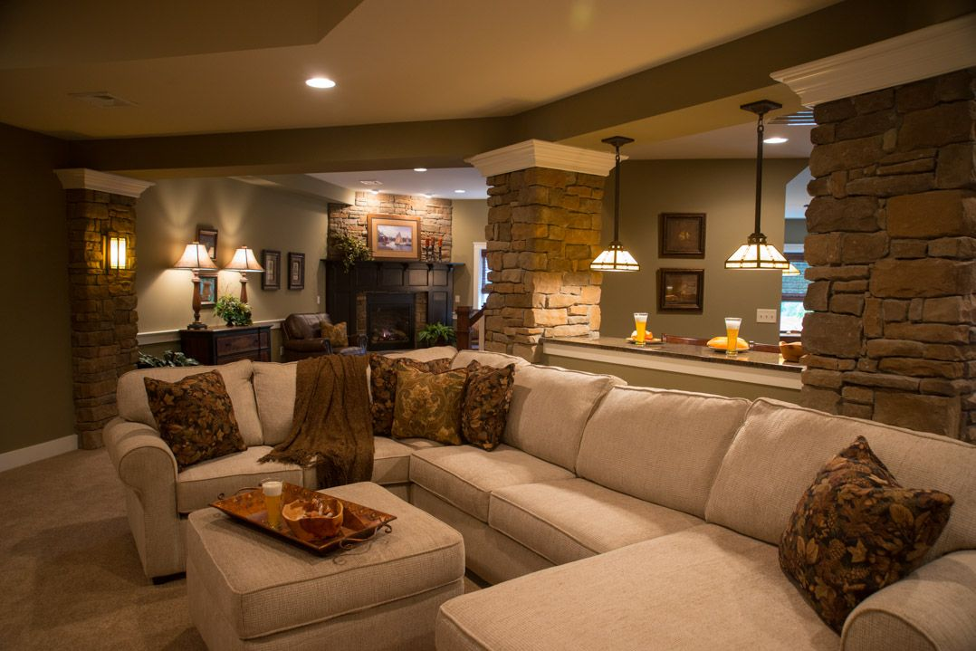 Basement Movie Room Comfy Couches