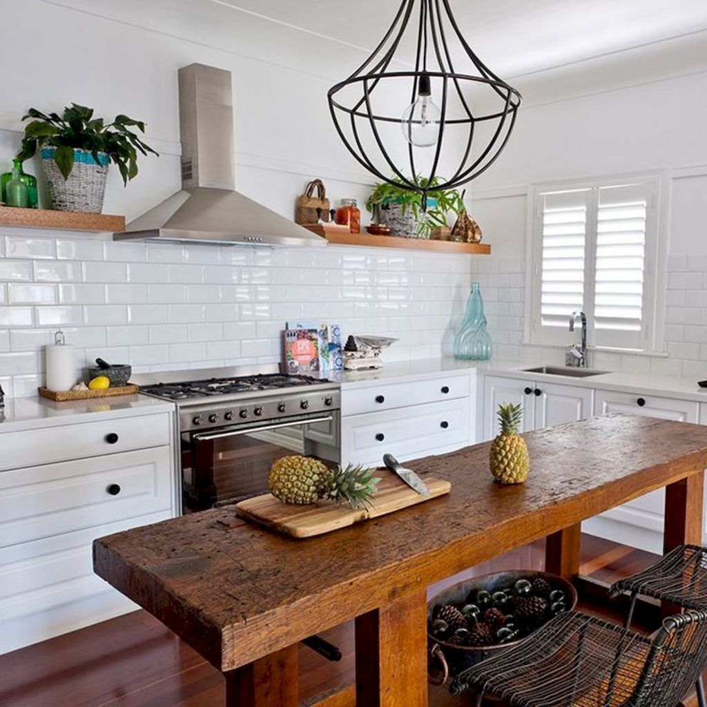 Stunning Small Island Kitchen Table Ideas - Home to Z