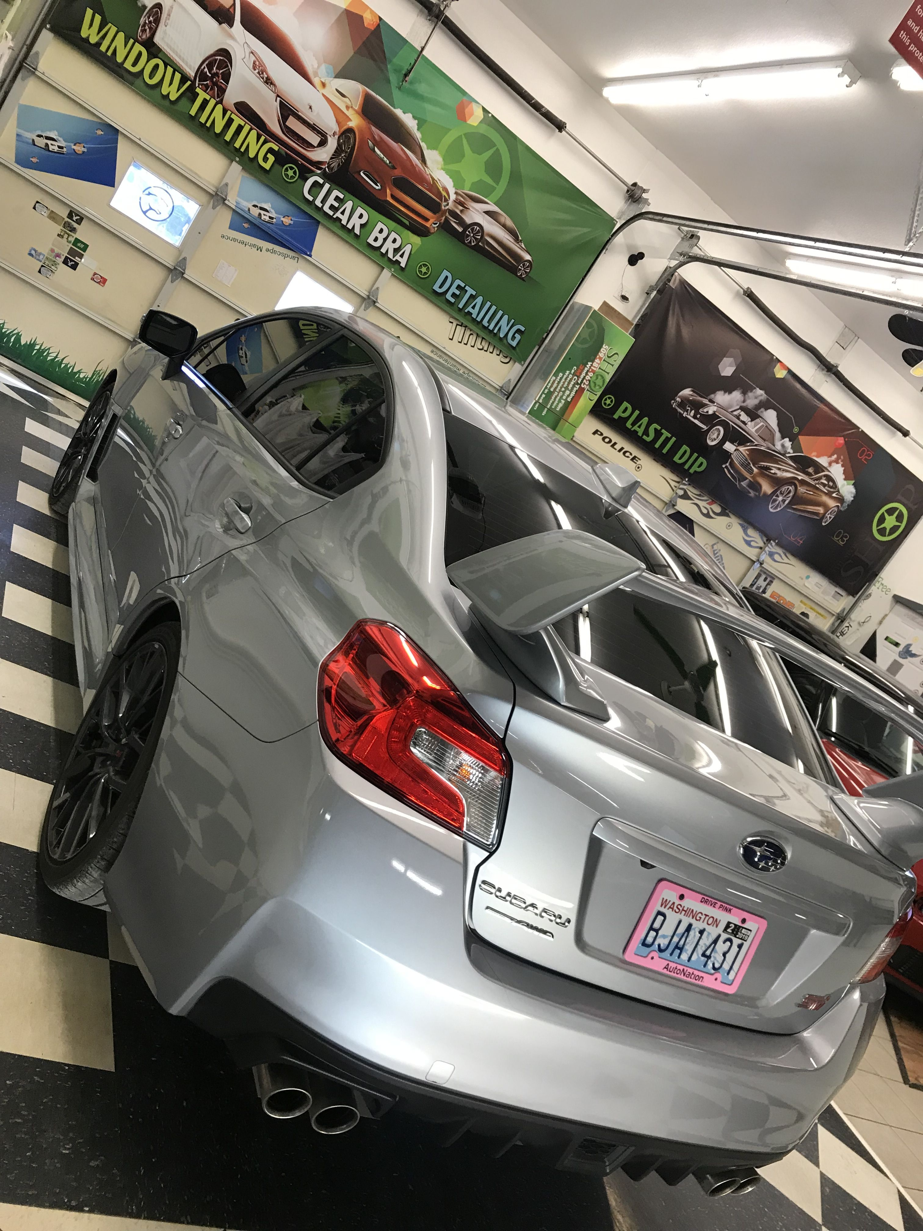 Sick Looking Sti Just Got A Mind Blowing Tint Using Our Carbon Ceramic Non Metal Film A Full Front Windshi Tinted Windows Commercial Window Tinting Clear Bra
